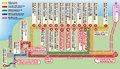 ラムラムツアーズ&トランスポーテーションの赤いシャトルバス
