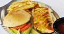 シーグリルレストランのサーモンバーガー