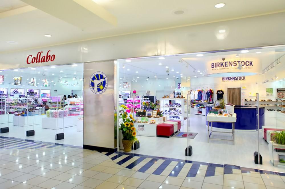 マイクロネシアモール内にある『コラボ(Collabo)』は、ビルケンシュトックとシュガークッキーのコラボレーションショップ。