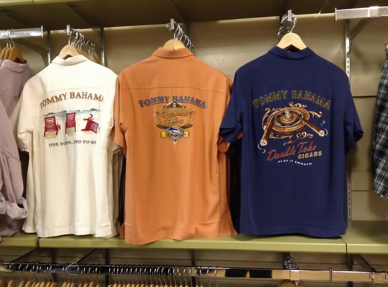 トミーバハマのシルクのアロハシャツ