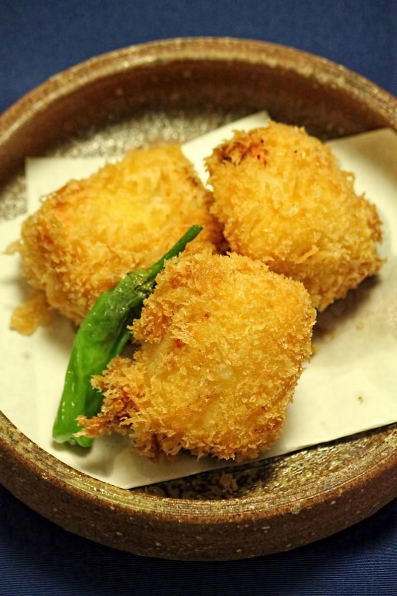 嵯峨野の季節限定メニュー ずわい蟹と豆乳の和風クリームコロッケ