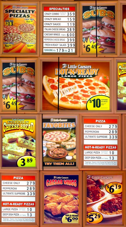 Kマートのピザ屋さん 『Little Caesars Pizza』のメニュー