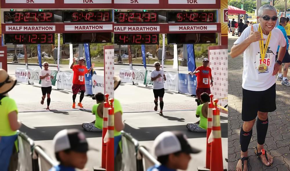 グアムインターナショナルマラソン ゴール&ゴール後