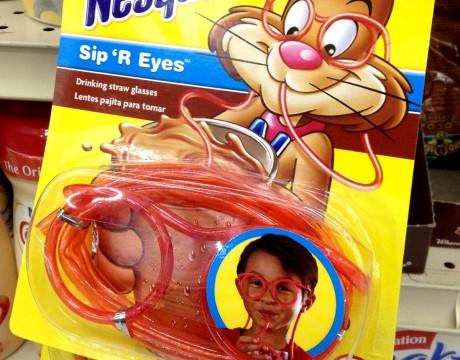 ネスクイックのメガネ型ストロー