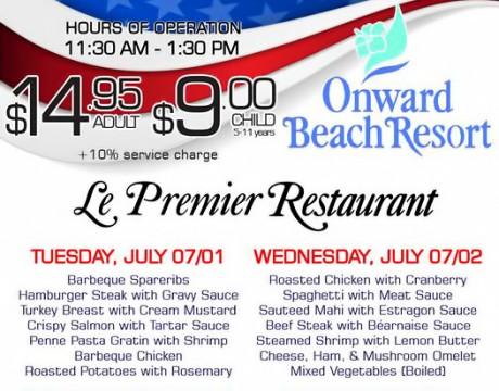 ルプルミエの、独立記念日を祝うアメリカンな『4日間限定』日替わりランチブッフェ (オンワードビーチリゾート)