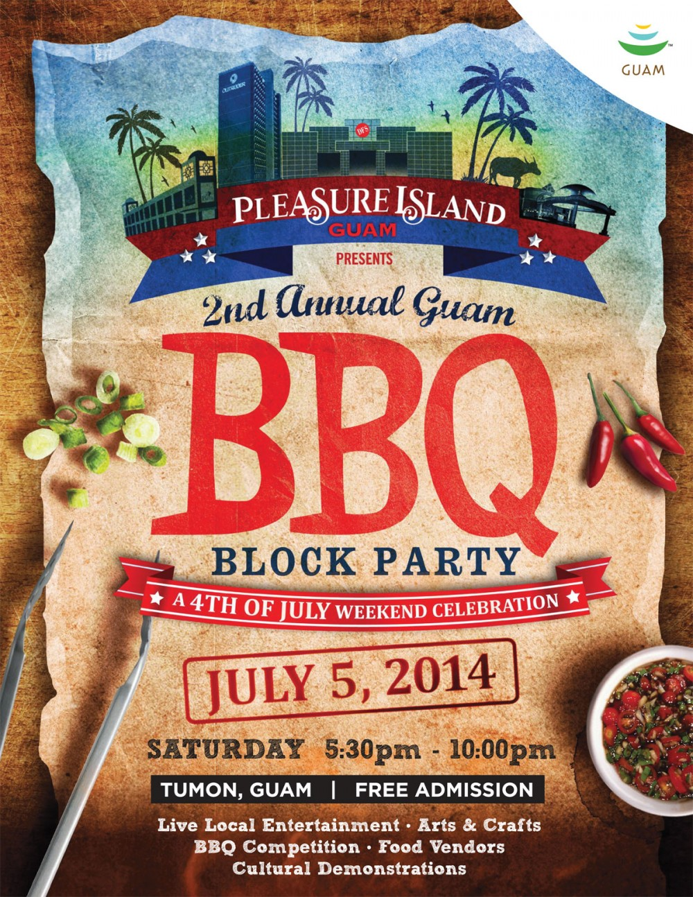 プレジャーアイランドグアム BBQブロックアウトパーティー開催