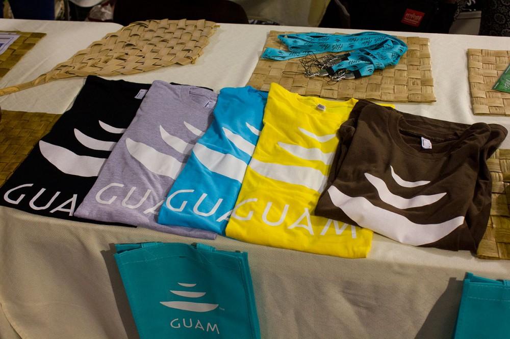 グアム政府観光局では『GUAM』グッズを販売。