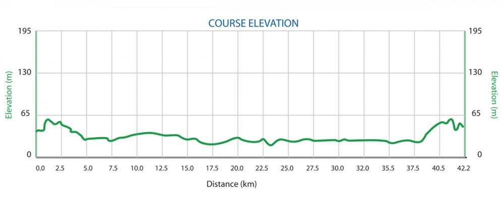 高低差 グアムインターナショナルマラソン2015