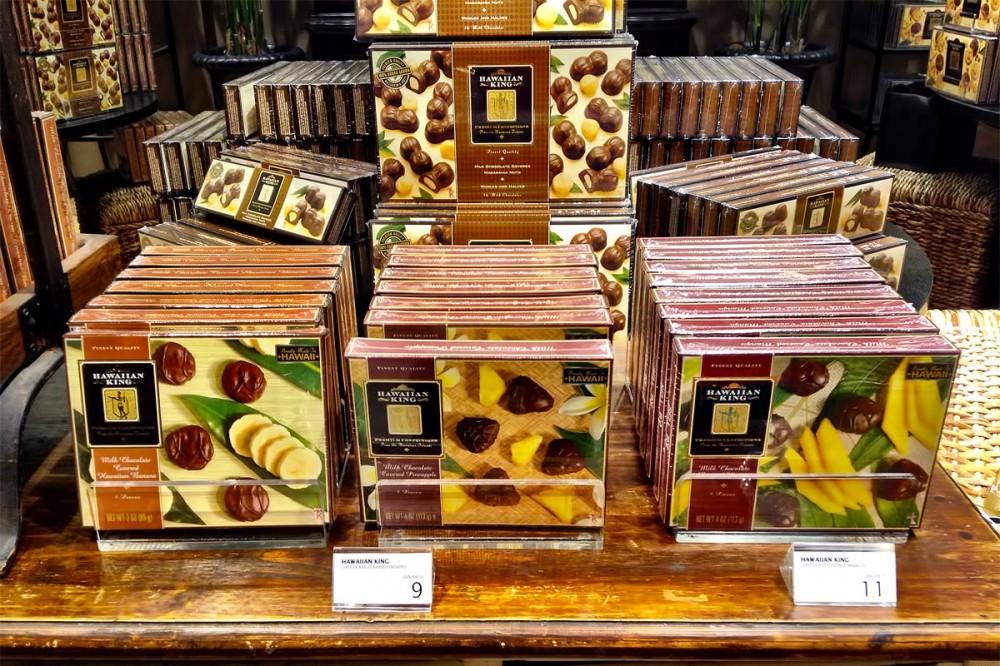 ハワイアンキングのドライフルーツチョコレート DFSギャラリアグアム