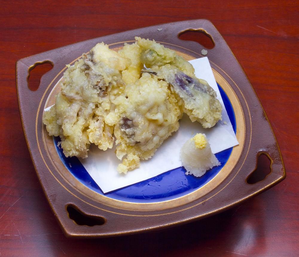 秋野菜と茸の天ぷら 嵯峨野の中秋の味覚御膳
