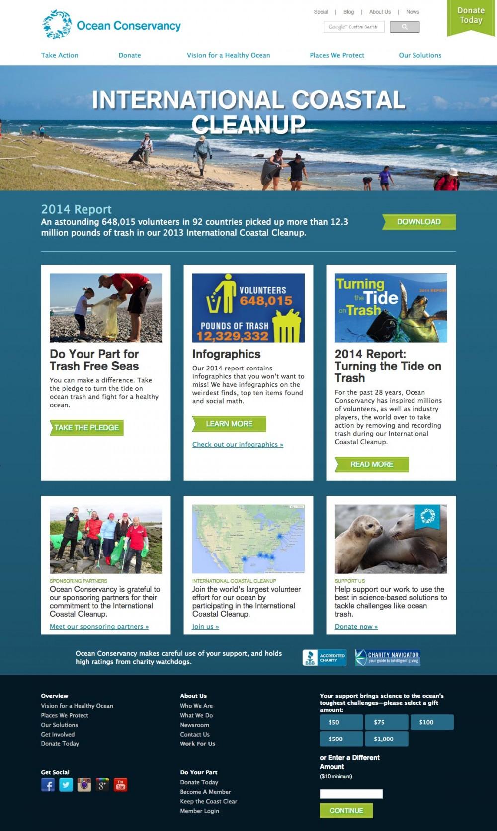 Ocean Conservancy: International Coastal Cleanup