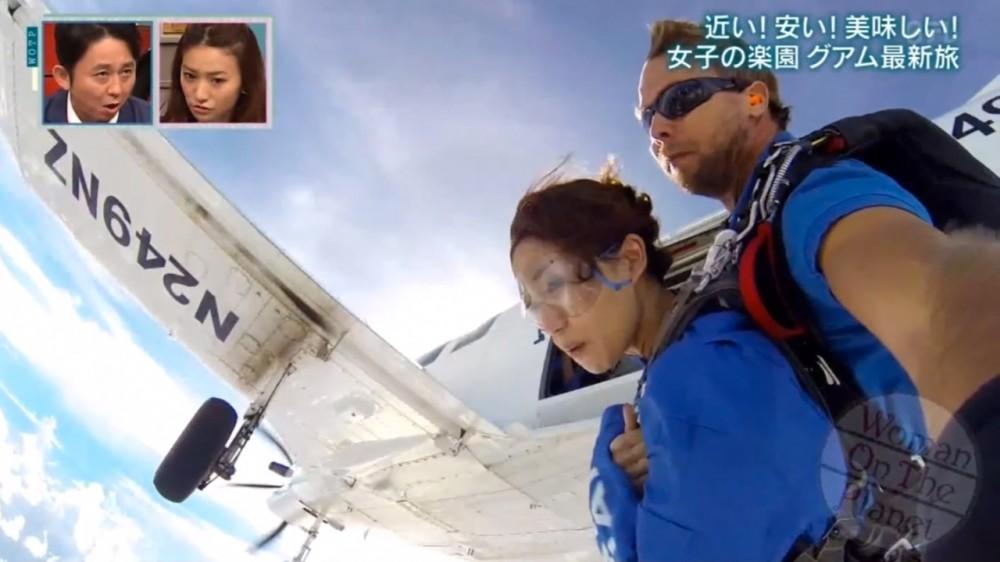 大島優子さん、グアムでスカイダイビングに挑戦しました。 Woman on the Planet (日本テレビ)