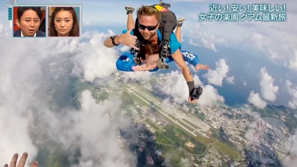 時速200kmで急降下する眼下に広がる絶景グアム Woman on the Planet (日本テレビ)
