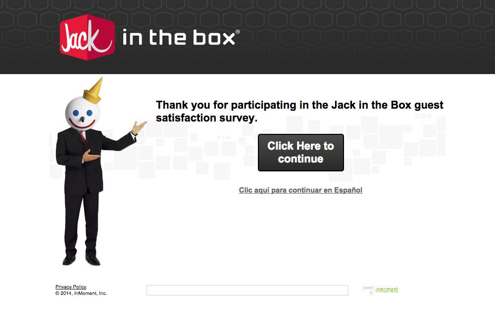 ジャックインザボックスのアンケートに答えると、タコスが2個、無料でもらえます。