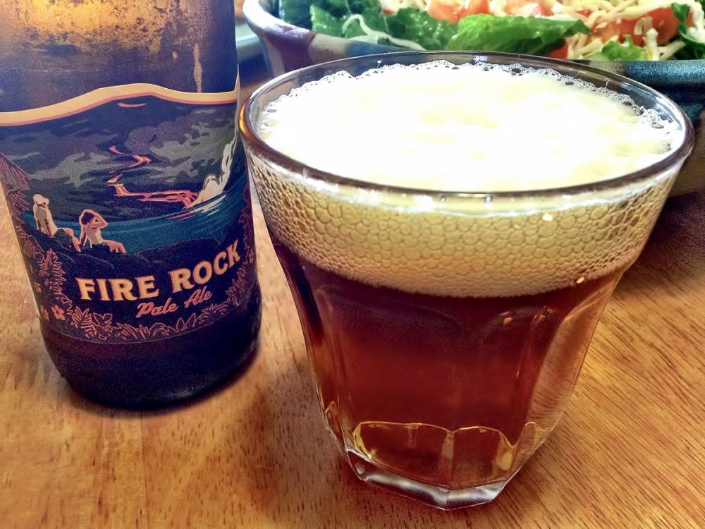 Kona Brewing Co.のFire Rock。美味しいですねぇ。