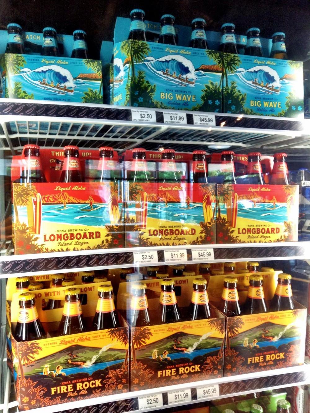 ハワイのビールも手に入ります。 Foody's
