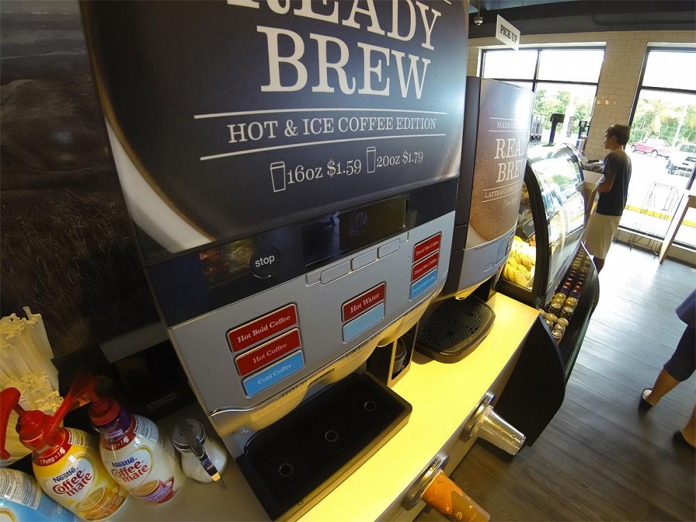 淹れ立てのコーヒーも$1.59からいただけます。Foody's