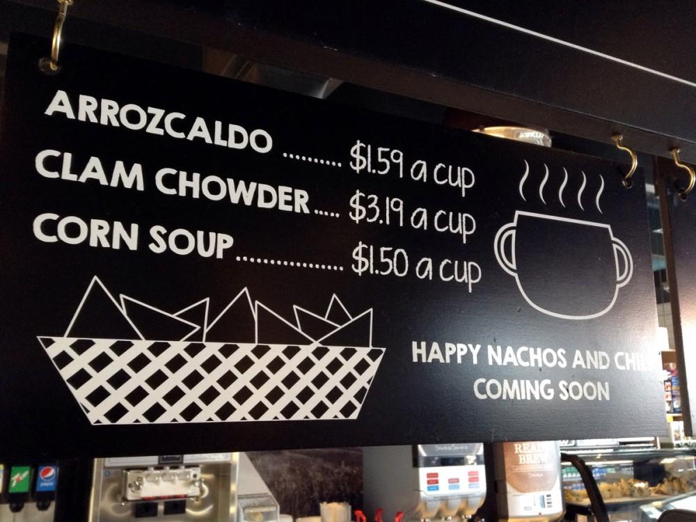 スープは3種類あります。Foody's