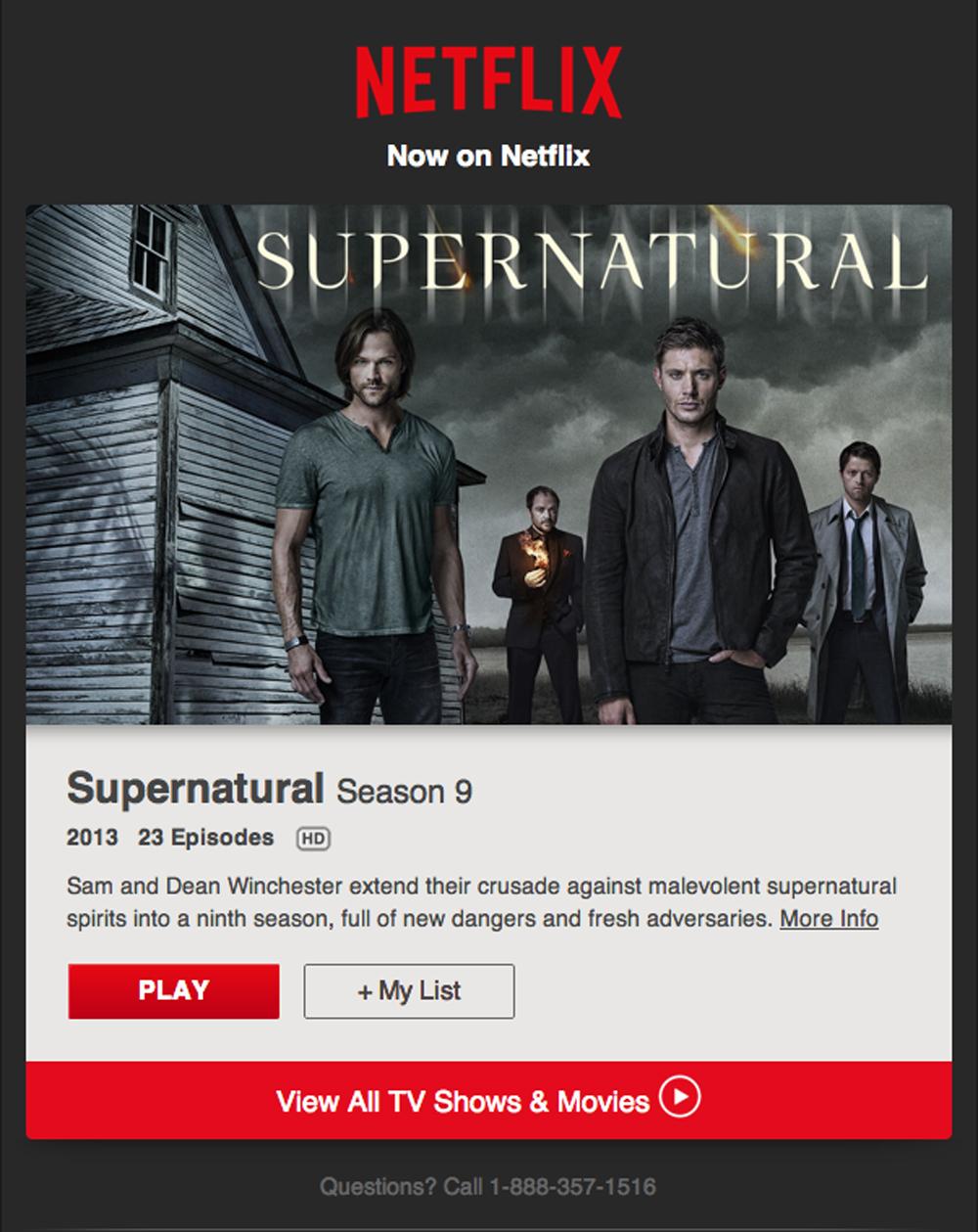 NetflixでSuperNaturalシーズン9が観られます!