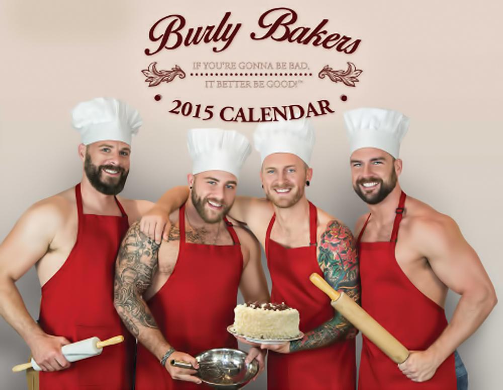 アメリカのアトランタにあるベーカリー「Burly Bakers」の、2015年度版カレンダー