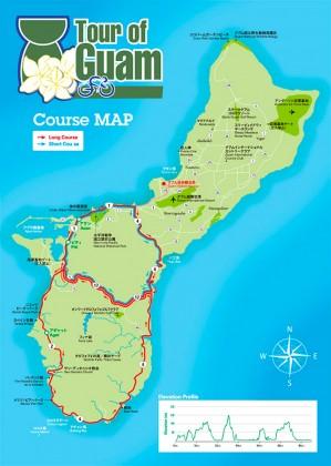 グアムのサイクルイベント「ツアーオブグアム」のコースマップ
