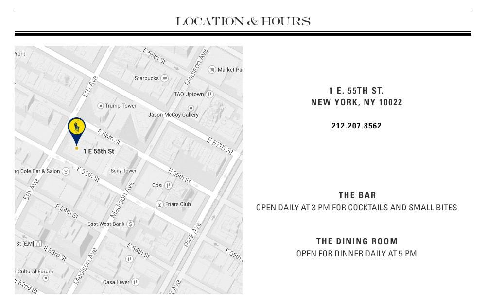ニューヨークにオープンしたラルフローレンの直営レストラン、THE POLO BAR