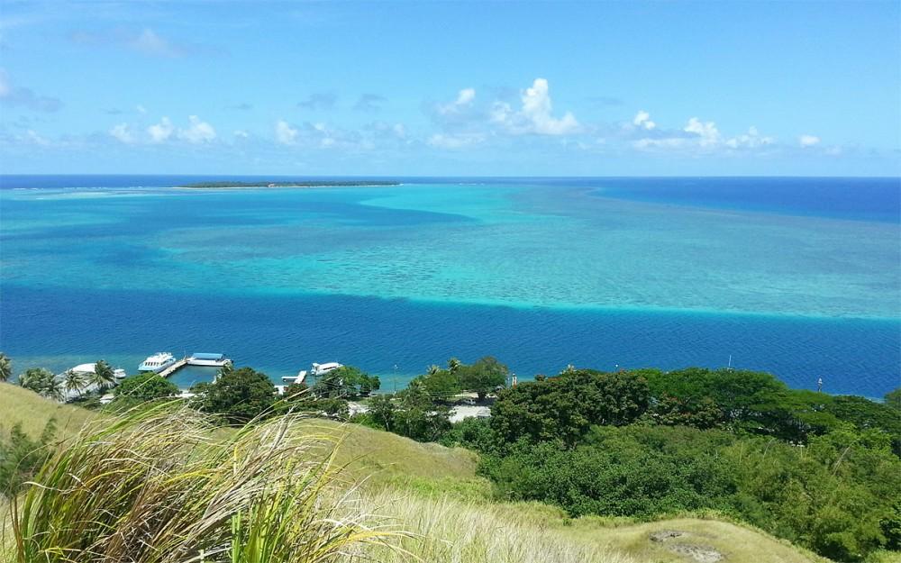 天国の丘から見るココス島 (アイランドジャーニーグアム)