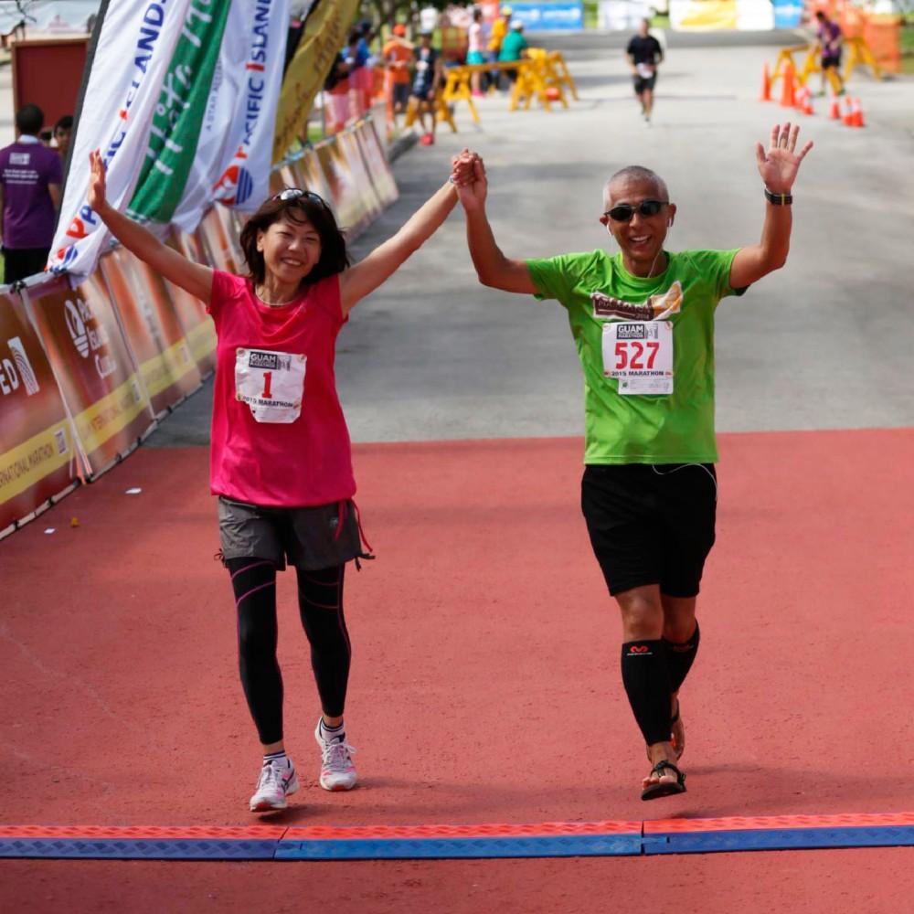 オリンピック金メダリストの高橋尚子さんと一緒にゴールできたラッキーなランナー 第3回グアムインターナショナルマラソン