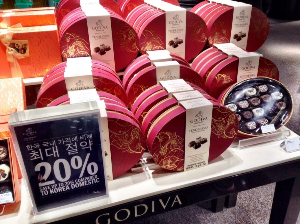 ゴディバの新作チョコレート (Tギャラリア by DFS グアム)