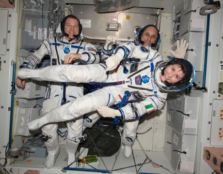 ソユーズTMA-15Mのクルーたち
