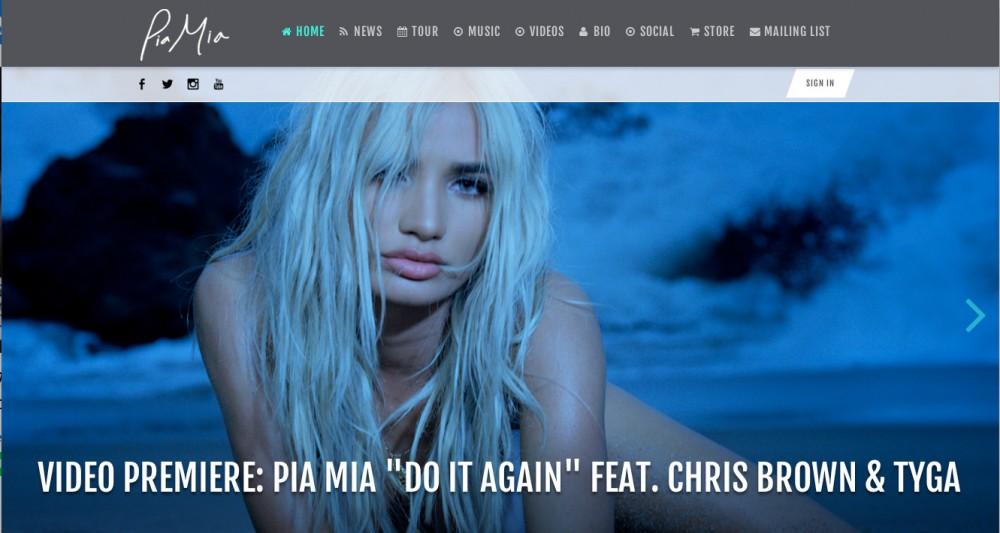 グアム出身のアーティスト、ピアミア (Pia Mia)のホームページ