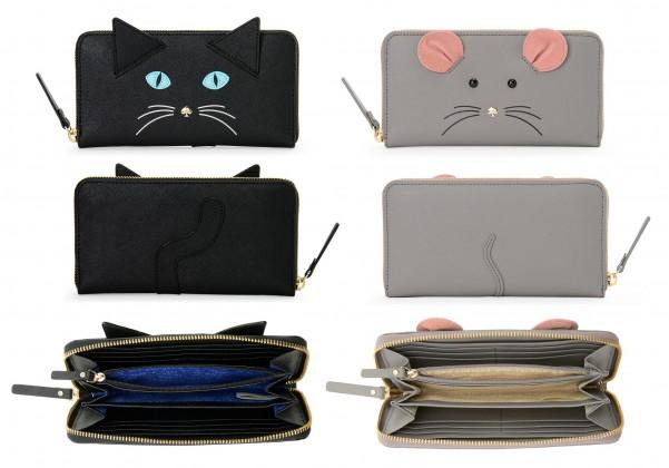 ケイトスペードの猫ちゃん財布