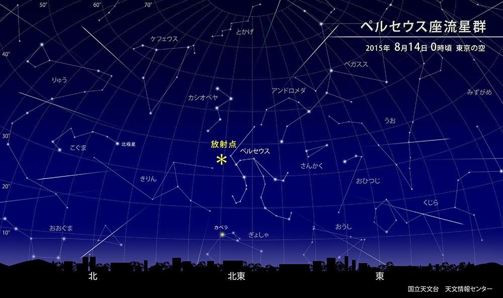 2015年のペルセウス座流星群