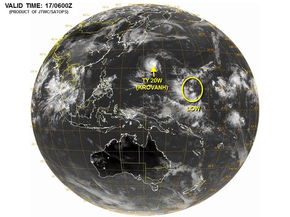台風20号が接近中