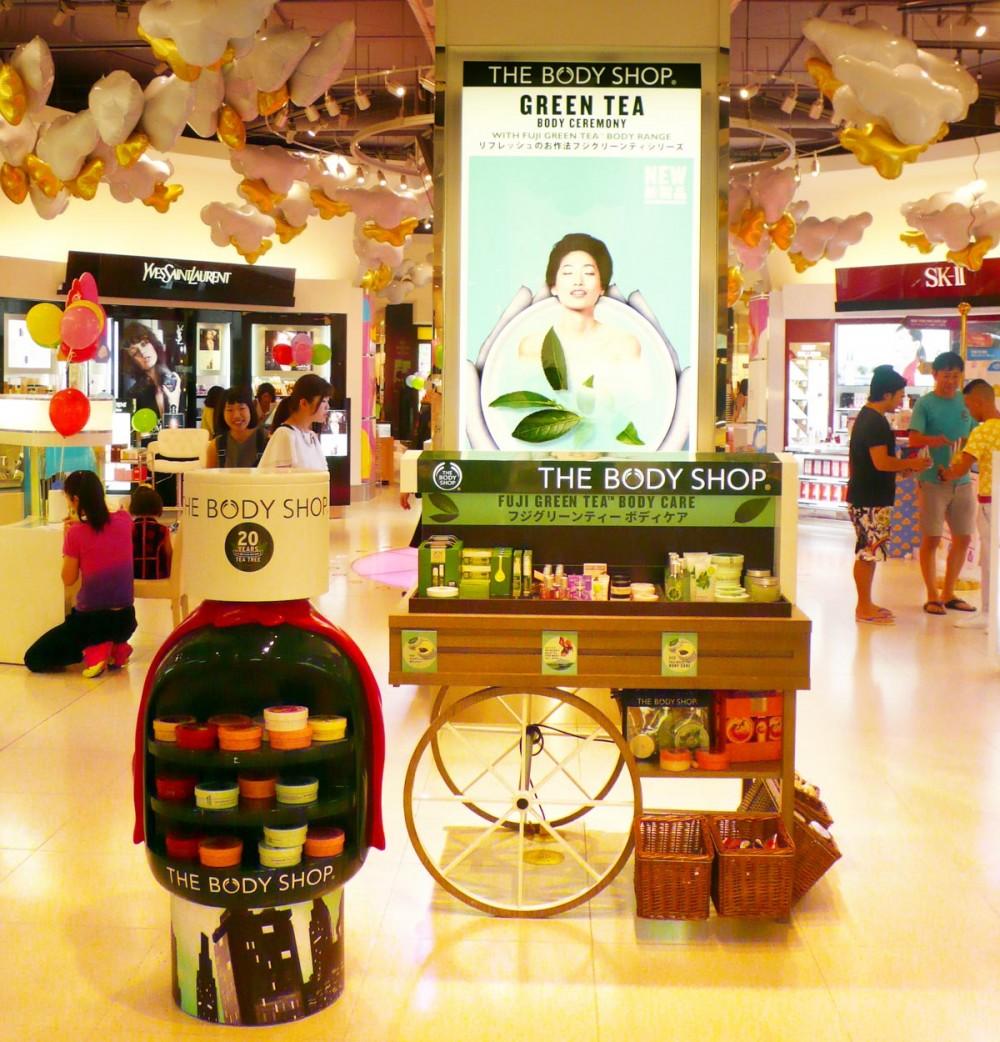 自然派化粧品ブランド『The Body Shop(ザ ボディショップ)』(Tギャラリア by DFS グアム)
