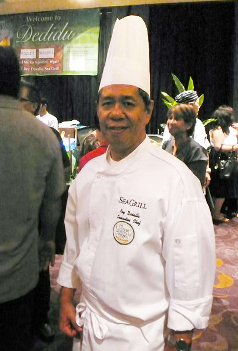 シーグリルのレイ ダサラ料理長 料理フェア「Maila' ta fan Chesa」にて