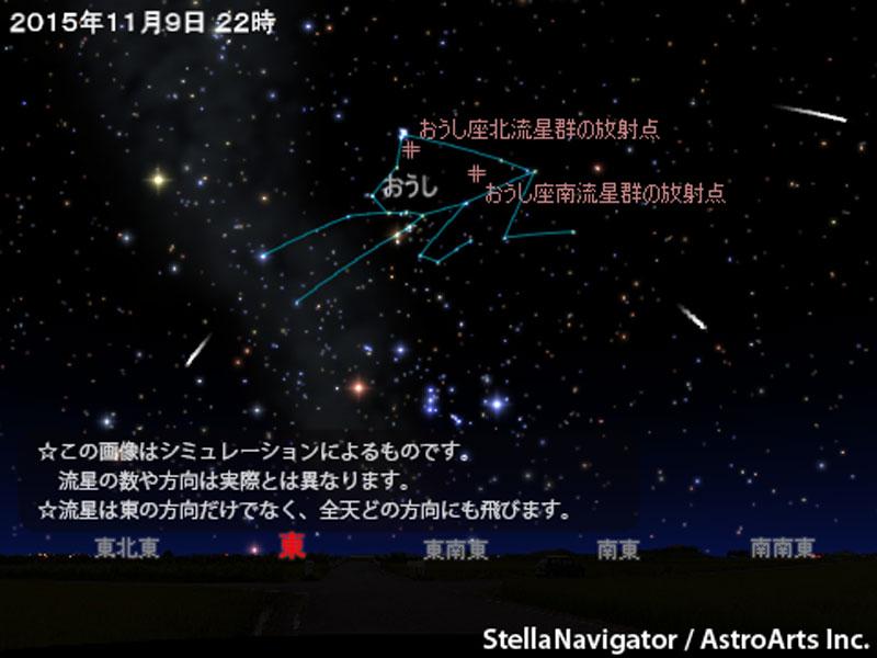 アストロアーツ おうし座流星群が活動中