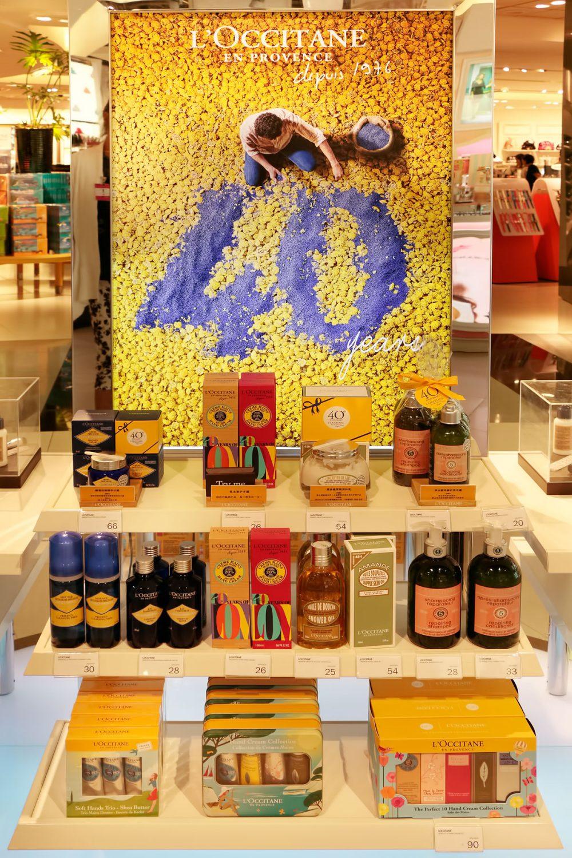 ロクシタンは2016年で40周年を迎えました。 Tギャラリアグアムのビューティーイベント