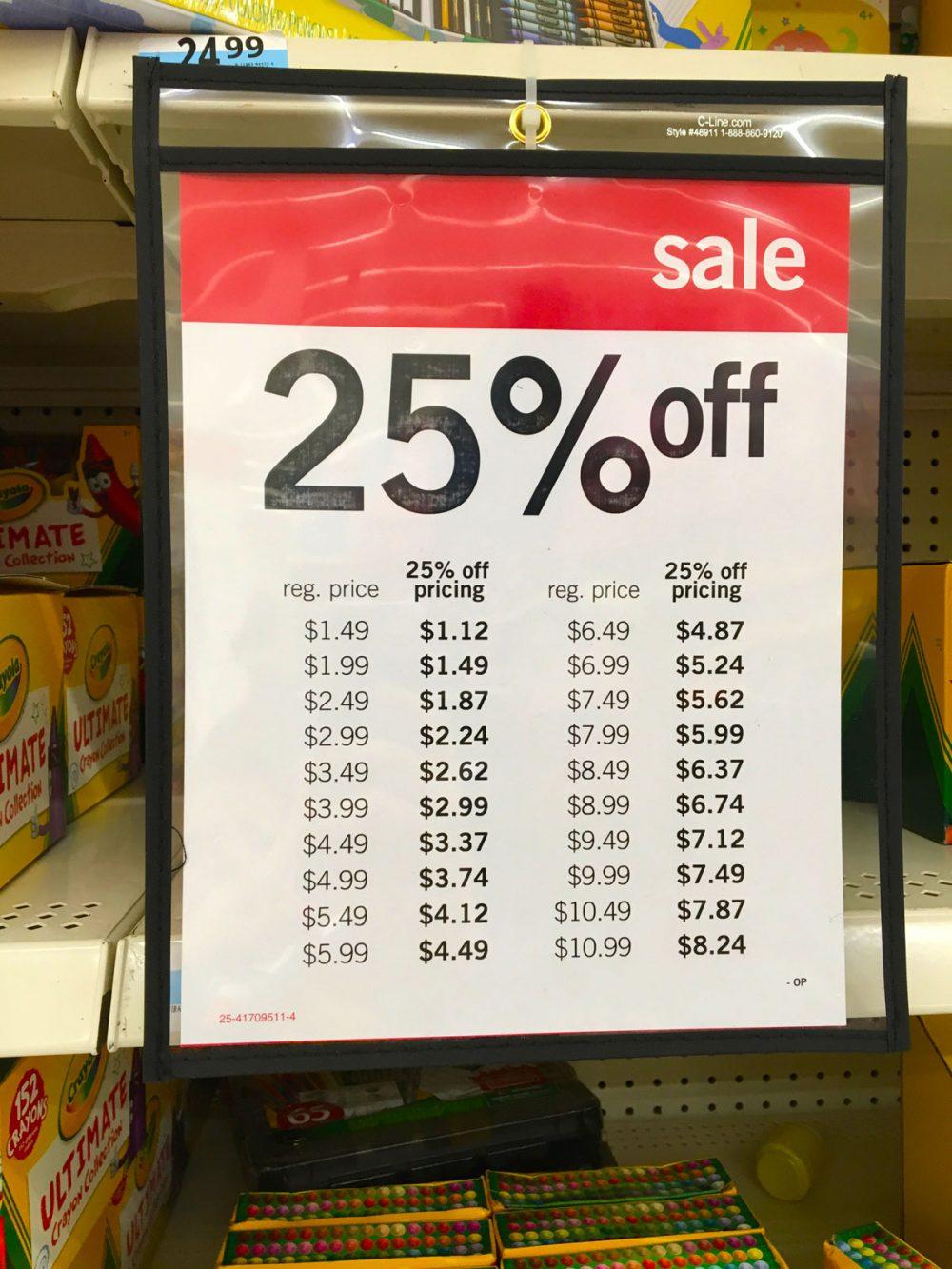 クレヨラが25%オフ Kマートの新学年セール