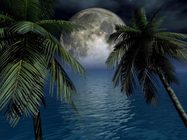 グアムで中秋の名月を