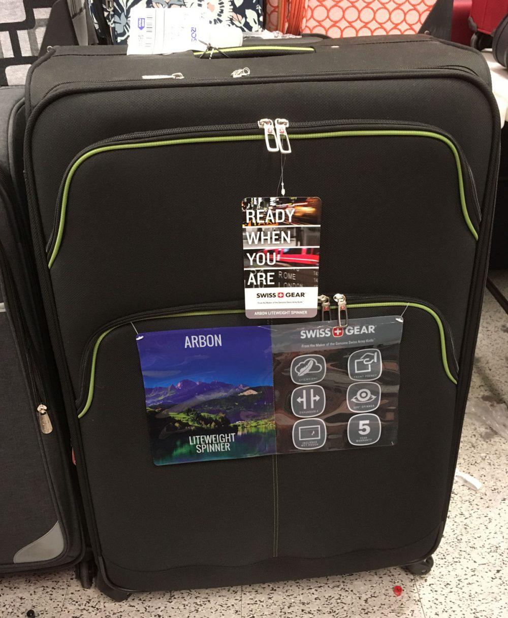 Swiss GearのARBON軽量スピナースーツケース ロスドレスフォーレス