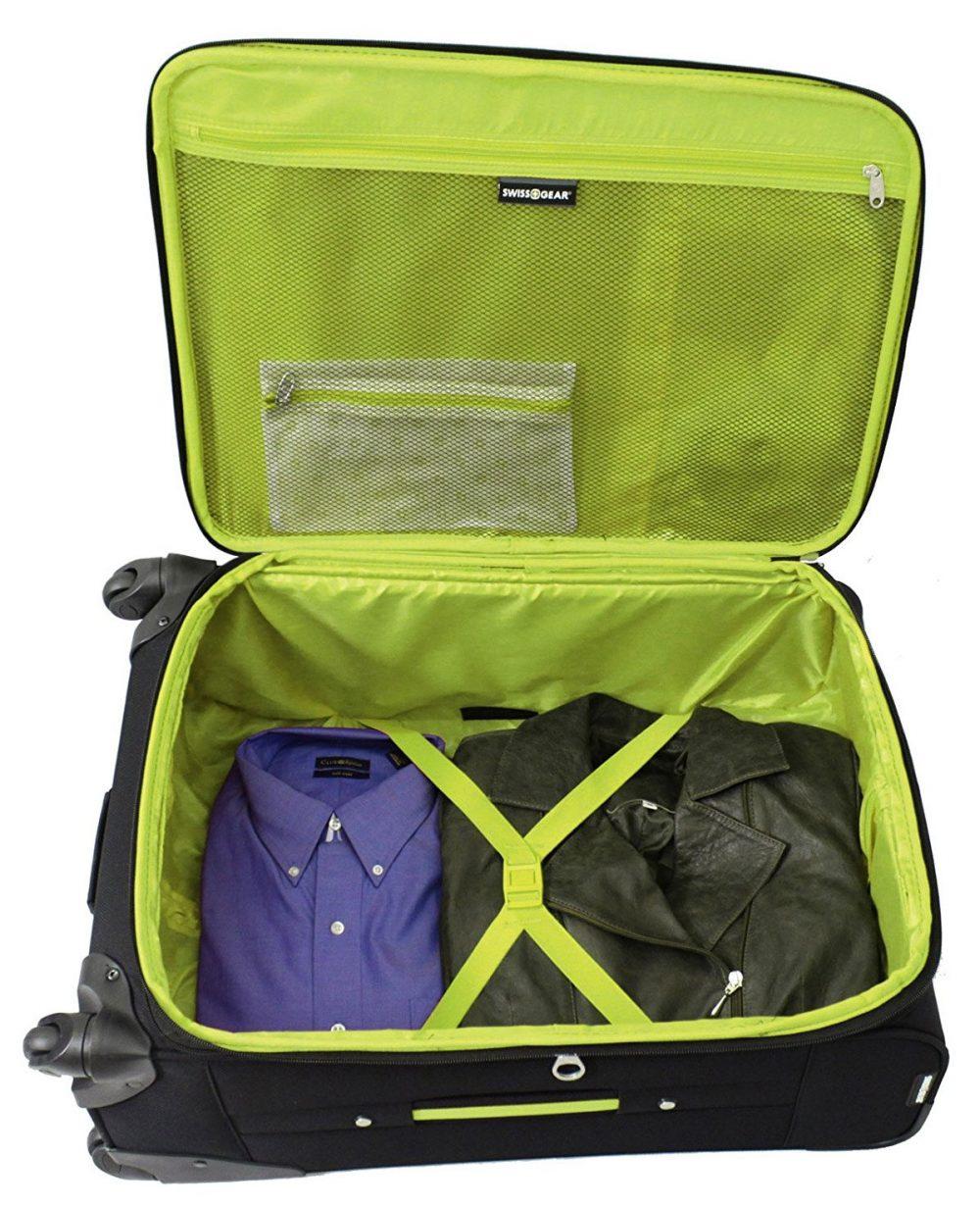 シンプルで使いやすいSwiss GearのARBON軽量スピナースーツケース ロスドレスフォーレス