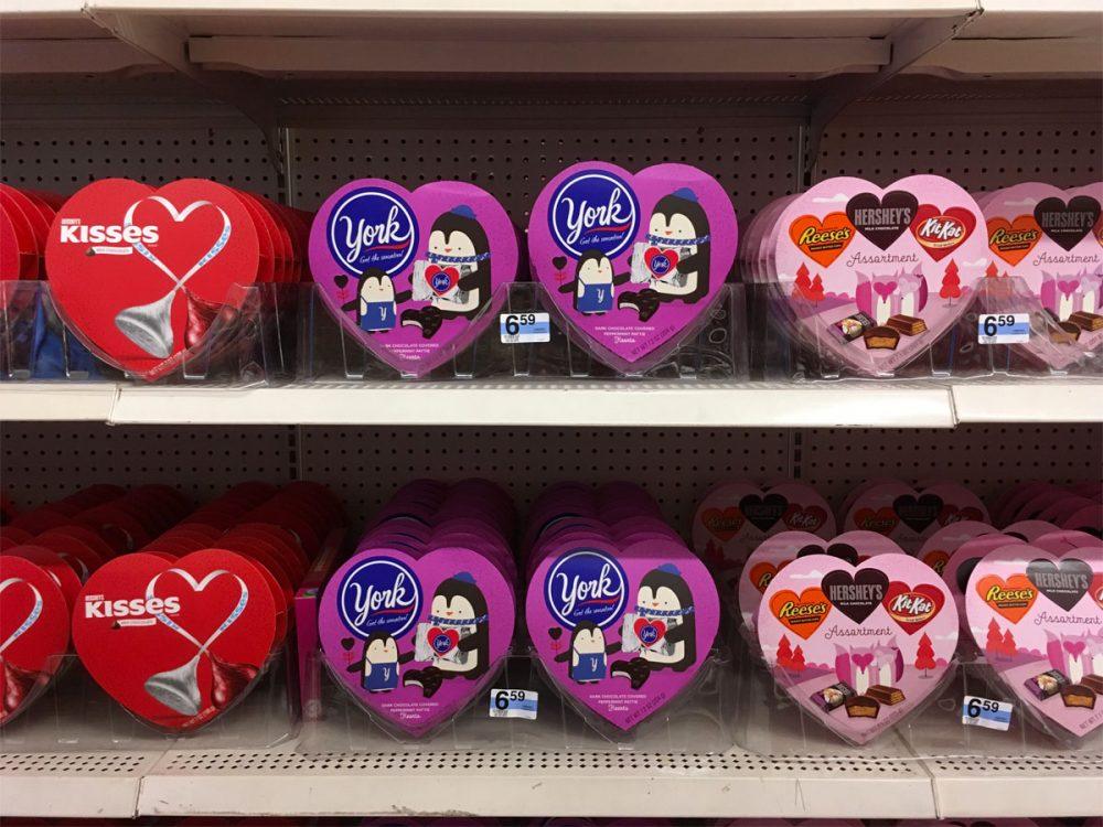 ハート型のパッケージがかわいいチョコレート Kマートのバレンタイン商品