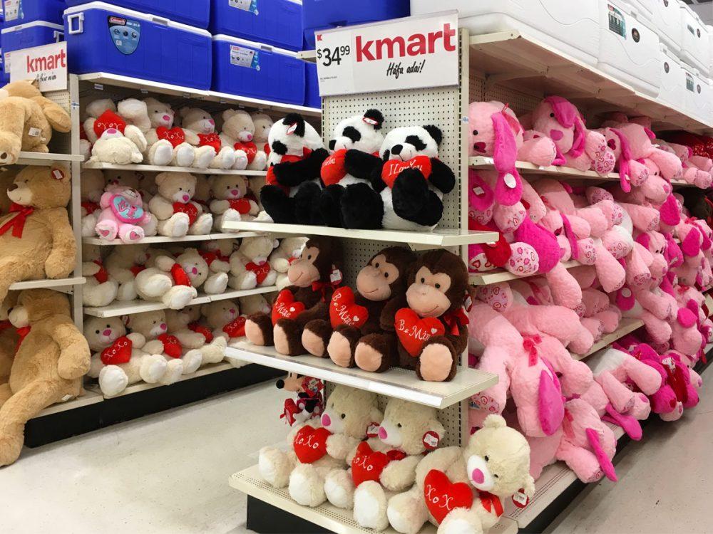 触り心地の良いぬいぐるみ Kマートのバレンタイン商品