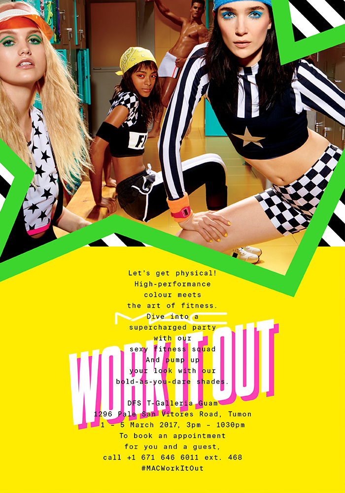 2017年春の新作コレクション『WORK IT OUT』プロモーション開催 (Tギャラリアグアム)