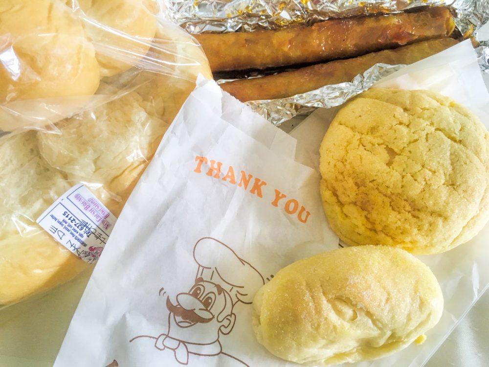 グアムでメロンパンです。 ニューフレッシュブレッドベークドショップ