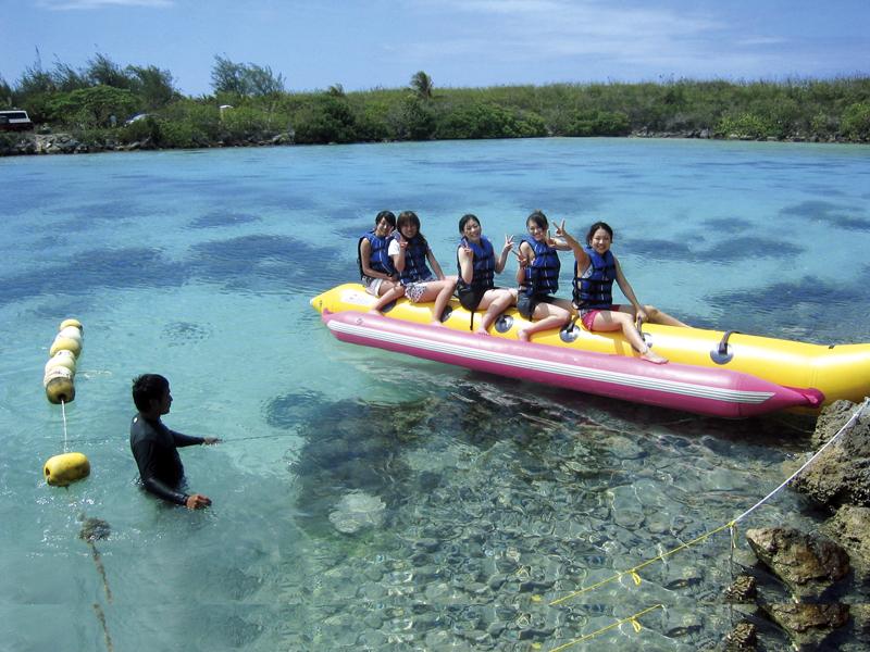 アプラダイブマリンのバナナボート