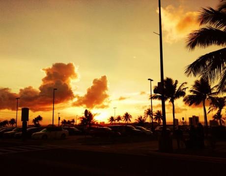 グアム国際空港からのサンセット