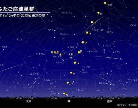 2013年のふたご座流星群
