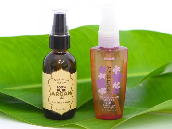 「KERATHERAPY(ケラセラピー)/Keratin Infused Argan Oil ($26.00)」と「Earthly Body(アースリーボディ)/Marrakesh 100% Pure Argan Oil For Face & Body ($29.00)」